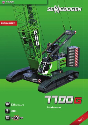 Crawler Crane 7700 - Crane Line