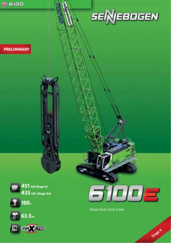 Duty Cycle Crawler Crane 6100 HD - Crane Line