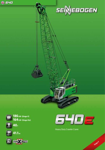 Duty Cycle Crawler Crane 640 HD E-Series