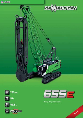 Duty Cycle Crawler Crane 655 HD E-Series - Crane Line