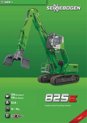 Material Handling Machine 825 Crawler - Green Line
