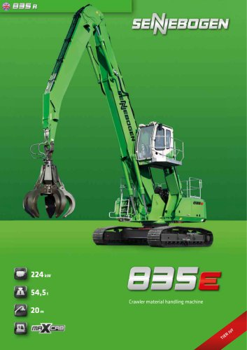 Material handling machine 835 Crawler E-Series - Green Line