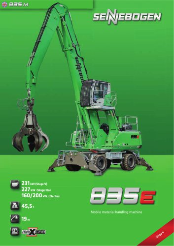 Material handling machine 835 Mobile E-Series - Green Line