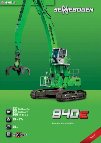 Material Handling Machine 840 Crawler E-Series - Green Line