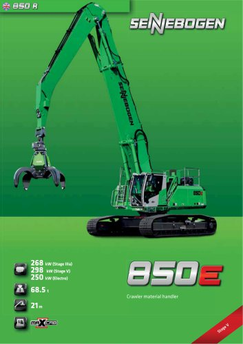Material Handling Machine 850 Crawler - Green Line