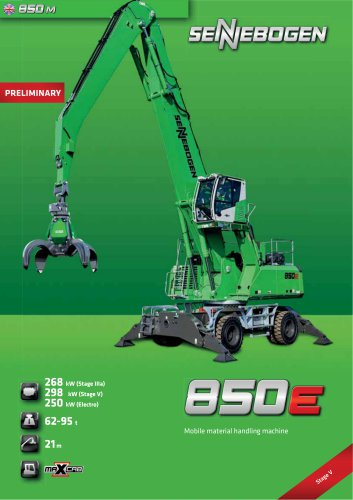 Material Handling Machine 850 Mobile - Green Line