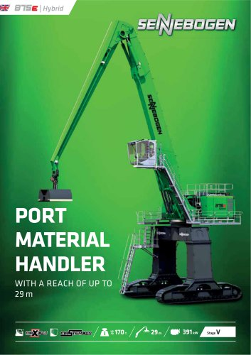 Material handling machine 875 E-Series - Green Line