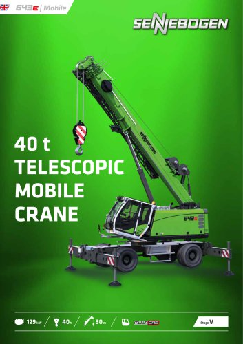 Telescopic Crane 643 Mobile - Crane Line
