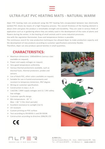 ULTRA-FLAT PVC HEATING MATS - NATURAL WARM