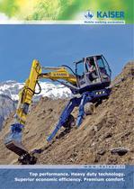 Mobile walking excavators