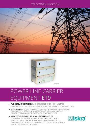 Power line carrier equipment ET9