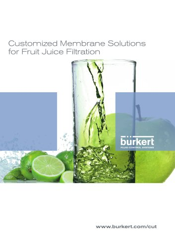 CUT Customized Membrane Solutions for Fruit Juice Filtration