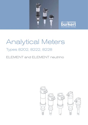 Element and Element neutrino Analytical Meters Types 8202, 8222, 8228
