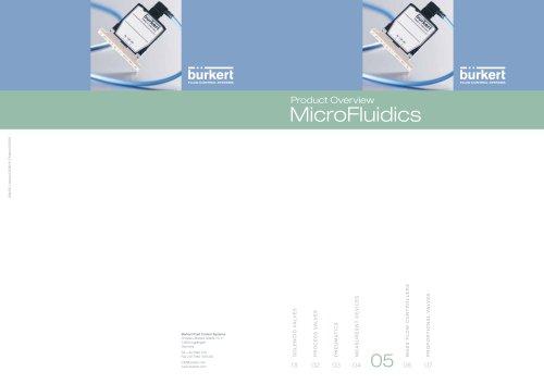 Product Overview MicroFluidics