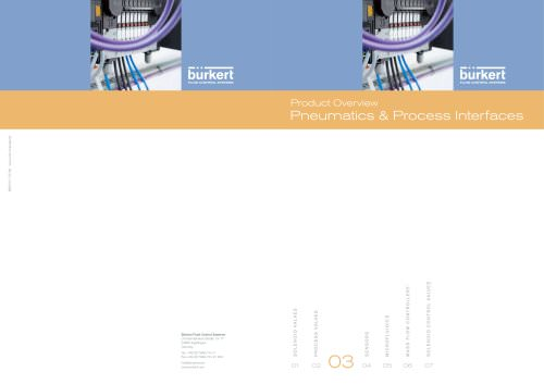 Product Overview Pneumatics