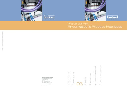 Product Overview Pneumatics & Process Interfaces
