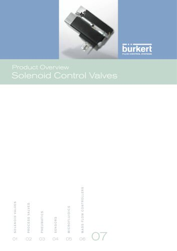 Product Overview Solenoid Control Valves