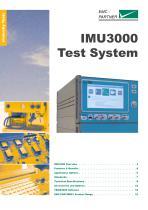 IMU3000 - Modular Immunity Test System - Touch the Future!