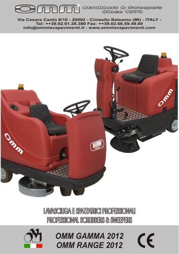 Autoscrubbers & Sweepers Range 2012 OMM