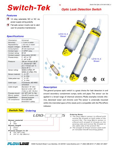 Optic Leak Detection Switch