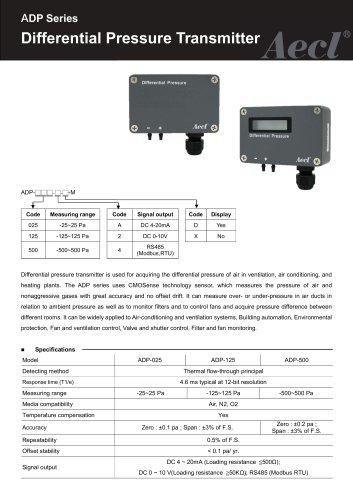 Aecl Differential Pressure Transmitter