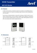 Aecl HCHO Transmitter (HCHO sensor) AVC-810