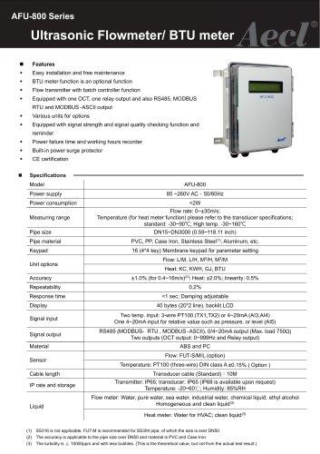 Aecl Ultrasonic Flow sensor