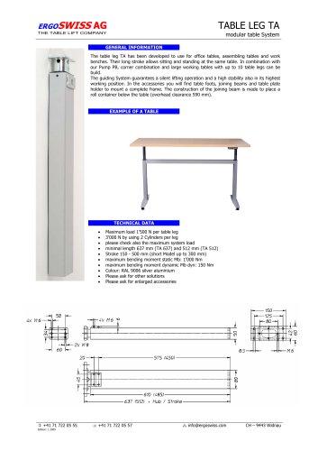 Complete adjustable table frames