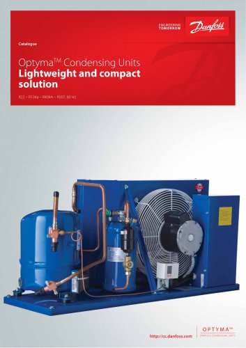 Catalogue - Optyma Condensing Units with MCHE