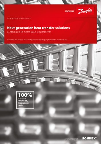 Complete portfolio of heat exchangers for your applications