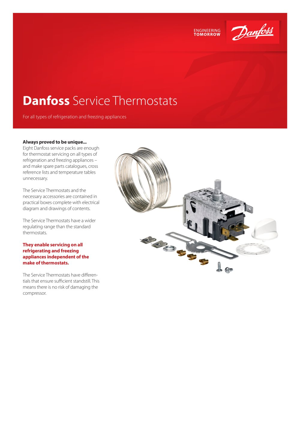Danfoss Service Thermostats Industrial Automation Pdf Refrigeration Compressor Wiring Diagrams 1 2 Pages