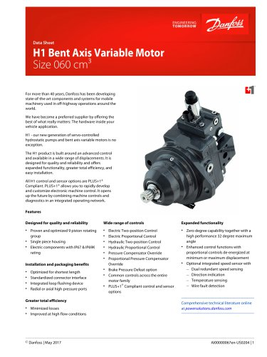 H1 060 Bent Axis Variable Motor