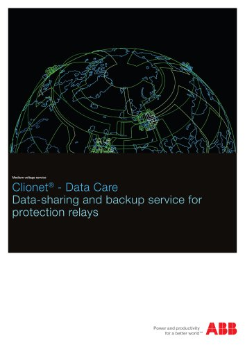 Clionet - Data Care Data sharing and back-up service for protection relays