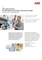 Life cycle services for distribution protection and control relays Modification and upgrade - 1