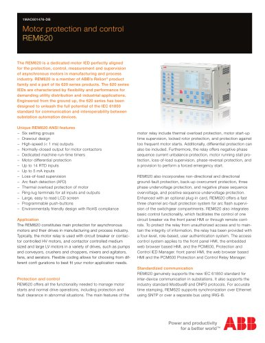 Motor protection and control REM620