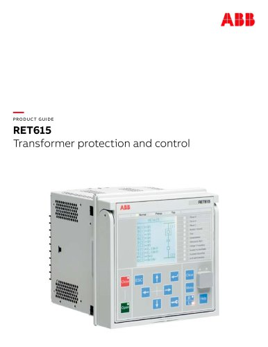 PRODUCT GUIDE RET615 Transformer protection and control