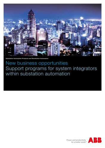 Support programs for system integrators within substation automation