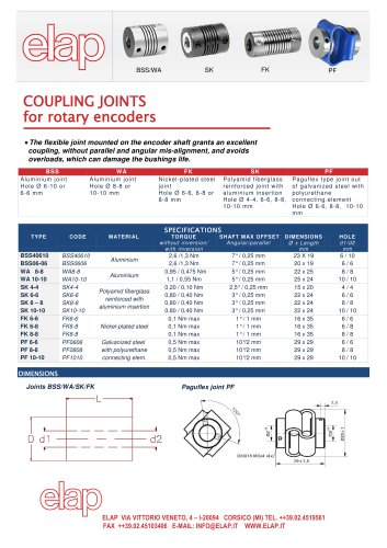 COUPLING JOINTS for rotary encoders
