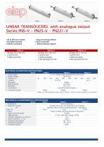 PNS-V, PN2S.V, PN231-V Transducers with analogue output
