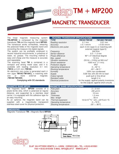 TMP + MP200 Magnetic transducer