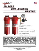 FILTERS COALESCERS DRYERS - 1