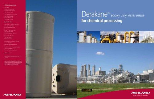 Derakane? epoxy vinyl ester resins for chemical processing - Ashland