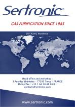 """SERTRONIC """"Point of use"""" gas purifiers - 4"""