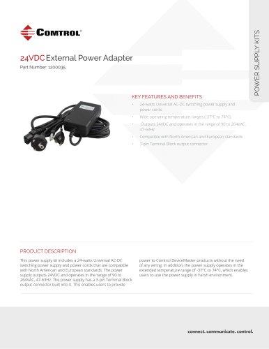 24VDCExternal Power Adapter