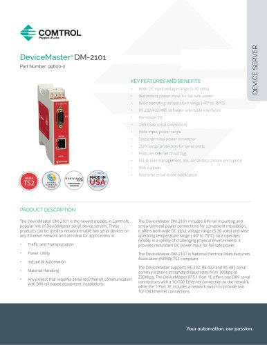 DeviceMaster® DM-2101