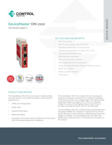 DeviceMaster® DM-2102