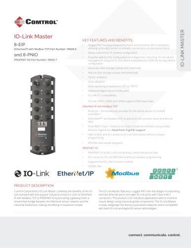IO-Link Master 8-EIP and 8-PNIO