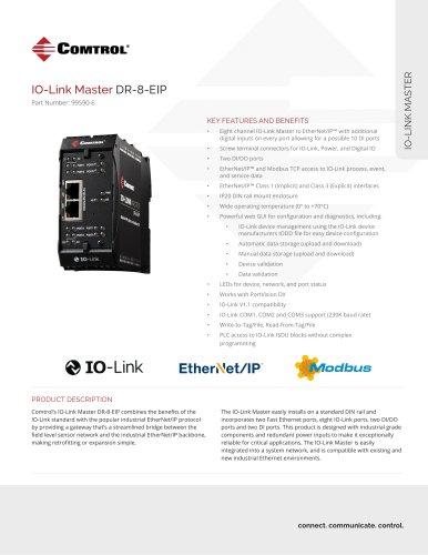 IO-Link Master DR-8-EIP