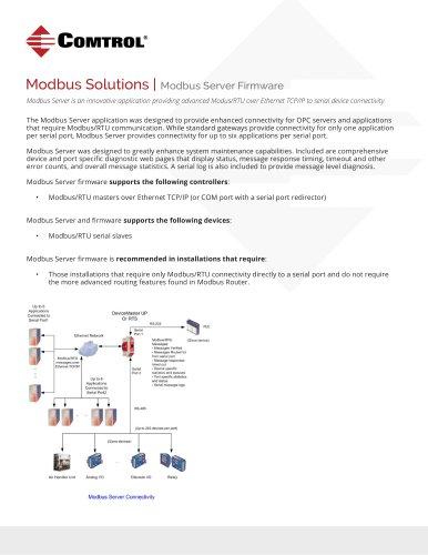 Modbus Server Firmware Solutions