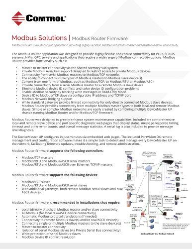 Modbus Solutions